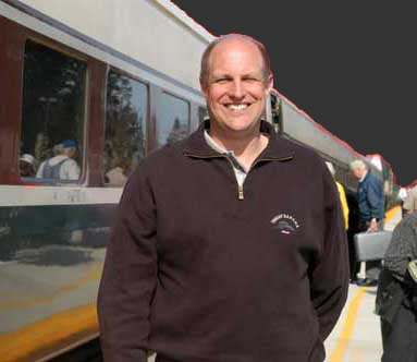 Larry at Olympia's Centennial Amtrak Station